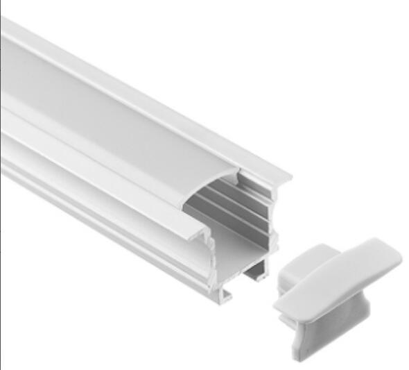 Envío Gratis, 2 m/unids, 40 m/lote, tira led de alta calidad, perfil de carcasa de aluminio, Canal led empotrado de aluminio