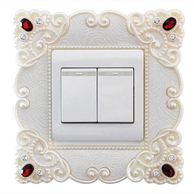 Cubierta de protección de cambio creativo europeo, pegatinas de interruptor acrílico, pegatinas decorativas para pared, salida de salón L003