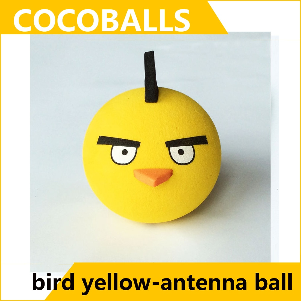 Cocoballs pássaro carro aéreo toppers espuma amarela antena bolas 6 pçs/lote