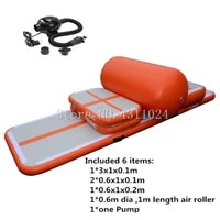 free shipping a set air track inflatable air rack training set for home use sealed airtrack with roller free a pump