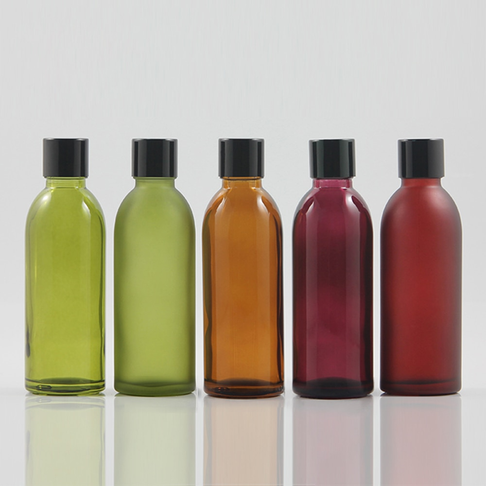 Glass bottle with shiny black cap for cosmetic foundition products, e liquid bottle 60ml glass bottl