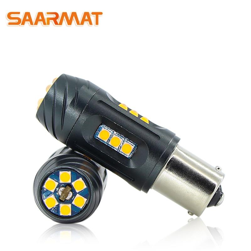 2*CanBus No Error 1156 ba15s P21W bau15s PY21W T20 7440 WY21W 2100lm Car Turn Signal Daytime running reverse Lights led DRL bulb