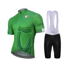 Ireland, новый командный мужской летний зеленый комплект для велоспорта, велосипед MTB, Шоссейная гоночная команда, одежда для езды на велосипеде, зеленый комплект для велосипеда, нагрудник 9D, ГЕЛЕВЫЙ, дышащий