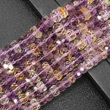 Ametrines naturelles perles à facettes Rondelle Heishi entretoise bricolage perles en vrac pour la fabrication de bijoux perles accessoires 15 femmes cadeau