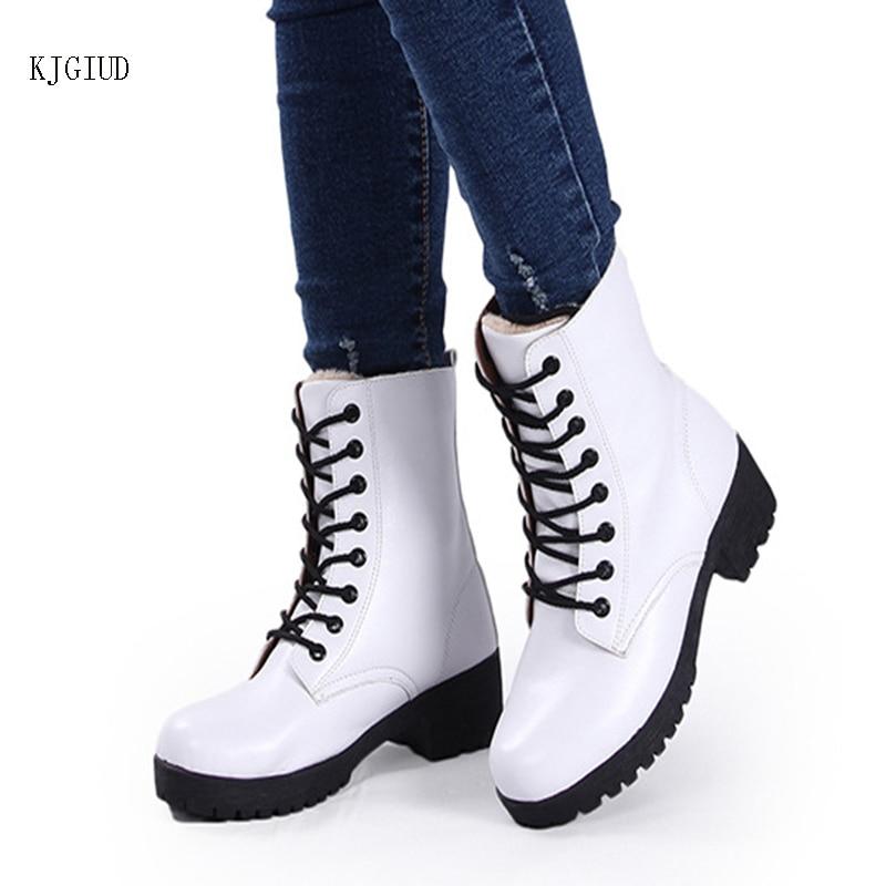 2019 Winter Ladies Fashion Plus Velvet Warm Boots Women's Casual Round Head Wedges Cotton Shoes Boots Women Bota Feminina