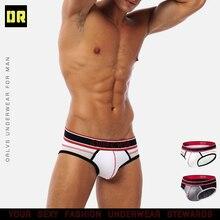 ORLVS Sexy Men Underwear Men Briefs Breathable bikini Gay Male Panties Underpants Men Thongs G-Strin