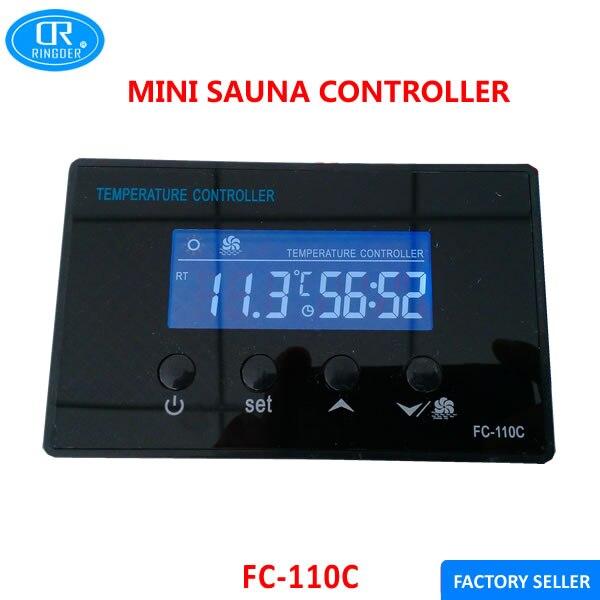 RINGDER FC-110C 110V LCD Mini Sauna Room Foot Spa Digital Temperature Controller With Countdown Timer Regulator Thermostat