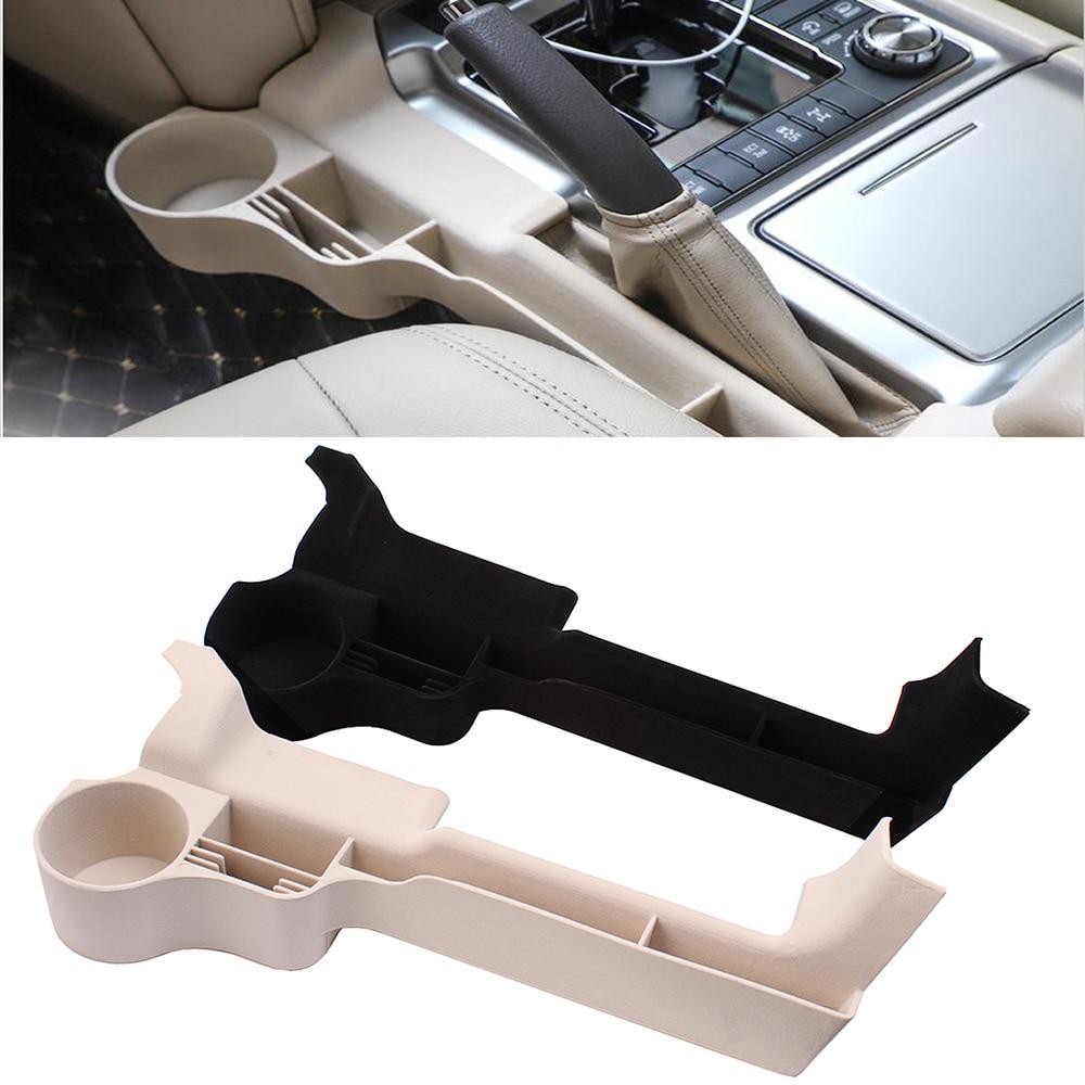 2016 2017 2018 2019 para Toyota Land Cruiser 200 negro Beige Interior del coche Sear Crevie caja de almacenamiento organizador portavasos Brakest