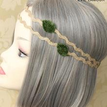 New arrival women's big floral hairbands party girl's lovely elegant headband cute Weave elasticity