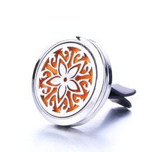 Beautiful Star Car Clip Perfume Essential Oil Diffuser Car Air Outlet Freshener Stainless Steel Fine