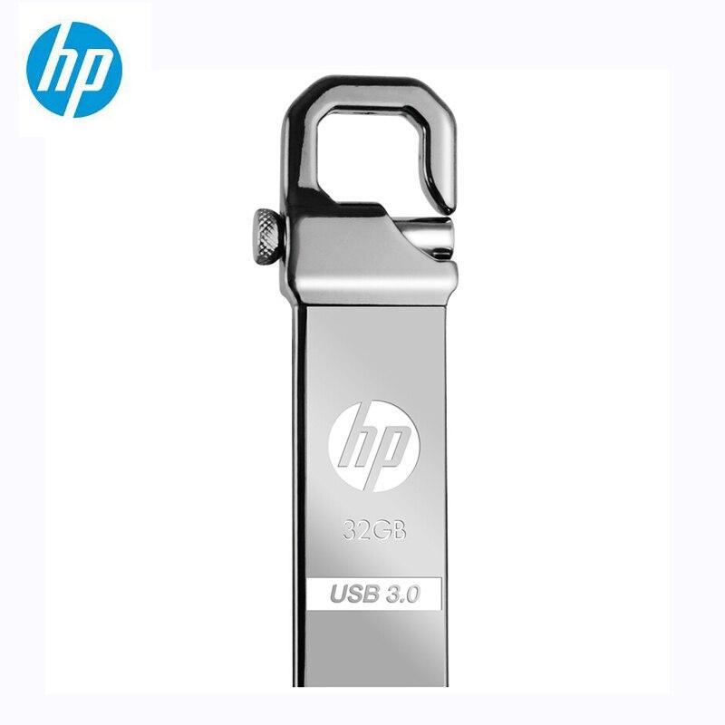 HP Metall USB Flash Drive 32GB 64GB DIY Stick X750W Cle USB 3.0 Memory Stick Schlüssel Daumen Haken Schloss fles Disk On Key Freies Shiping