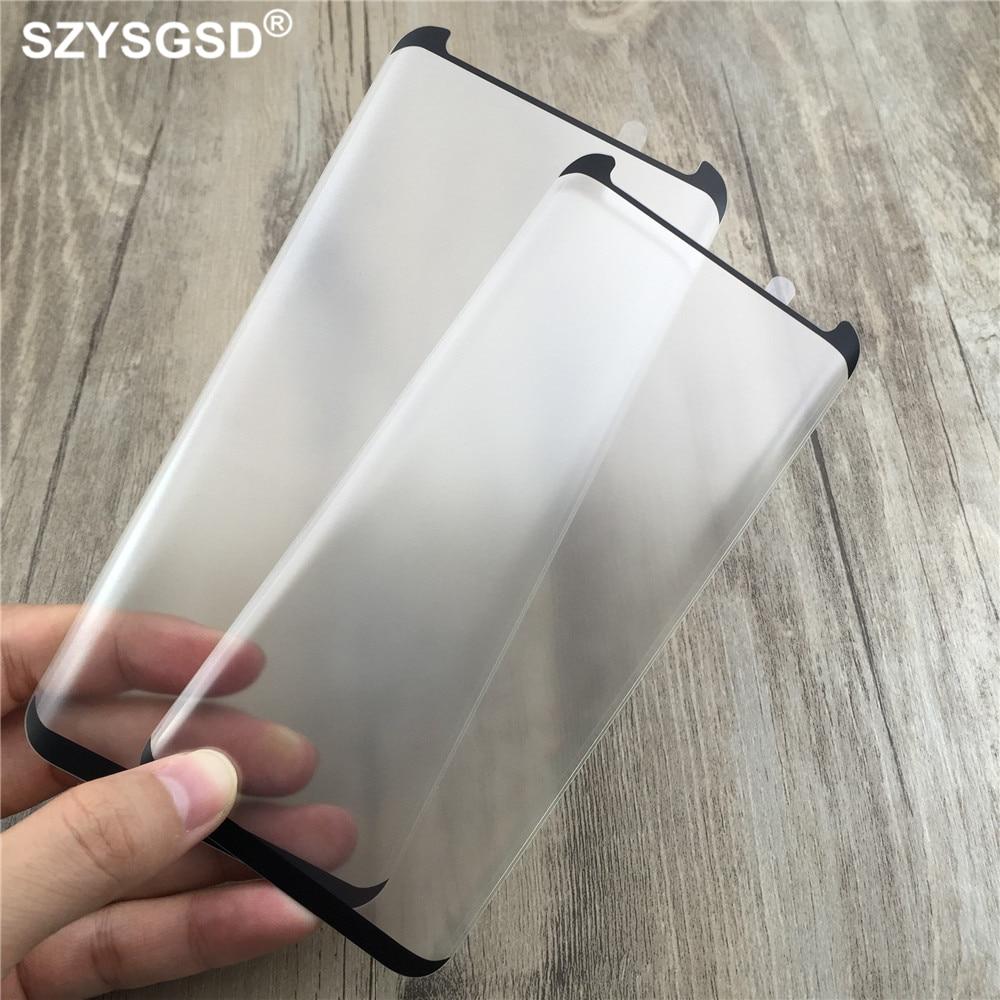 Vidrio Templado mate 3D para Samsung Galaxy S9 S8 S8 Plus Note9, funda protectora de pantalla completa, película protectora dura amigable
