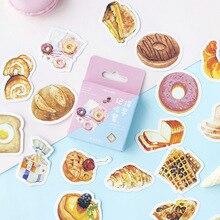 Juego de pegatinas decorativas para diario, calcomanías adhesivas para decoración de bricolaje, paquete de caja, recuerdo de comer el desayuno