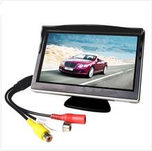 5 inç Araba Monitör TFT LCD Ekran HD Dijital Renkli Araba Dikiz Monitör Desteği DVD/Kamera/Dijital TV kutusu