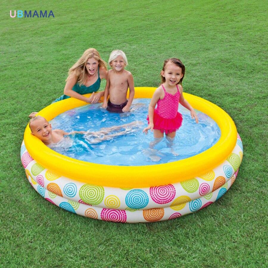 Patrón geométrico aleatorio de tres capas de plástico inflable piscina familia piscina mar piscina cuenca