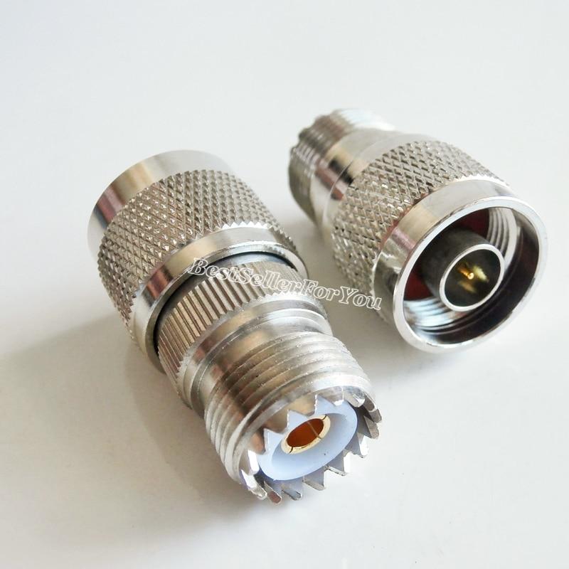 10 قطعة N ذكر التوصيل إلى UHF SO-239 أنثى SO239 جاك RF موصل محول راديو اقناع كابل