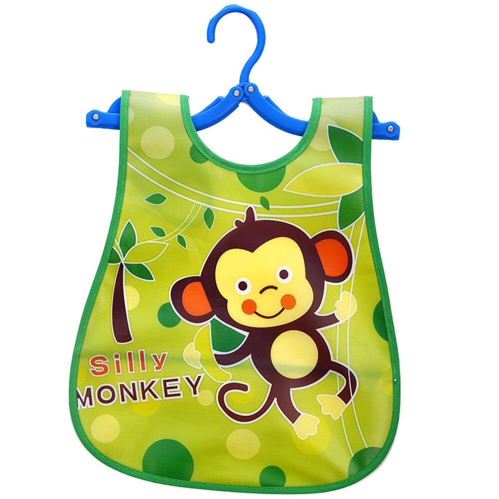 Baberos de bebé para niño Baberos de Eva para bebé a prueba de agua lindo mono patrón de dibujos animados niño Delantales para bebé Saliva toalla niñas babero 1-4 años k424