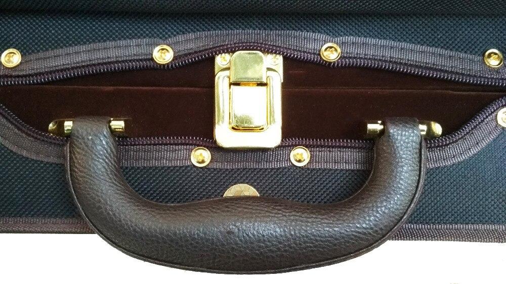 Violin Foam Case Coffee Color & Blue Phoenix Silk Hygrometer FPH1082 enlarge
