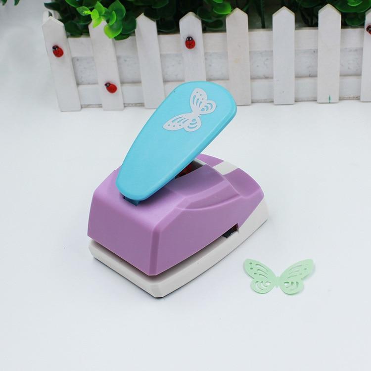 Cortador de papel do perfurador da placa da forma da borboleta 3d de 4.7cm para a máquina de scrapbooking do cartão da saudação perfurador feito à mão do furo