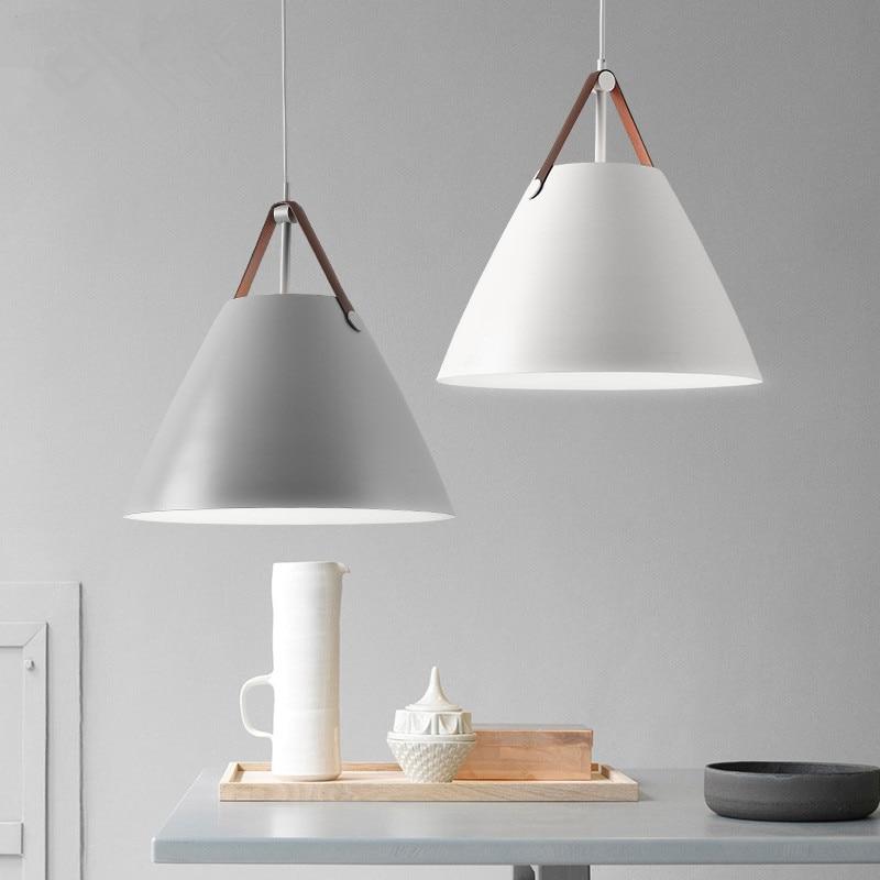 Modern Cone White LED Pendant Lamp dining Room living room hanging lamp bar Lighting Pendant Light luminaire Kitchen Fixture