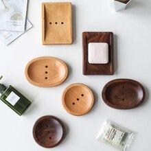 Boîte de rangement de savon en bois naturel   Porte-savon fait main de Style japonais, produits de salle de bain portables créatifs