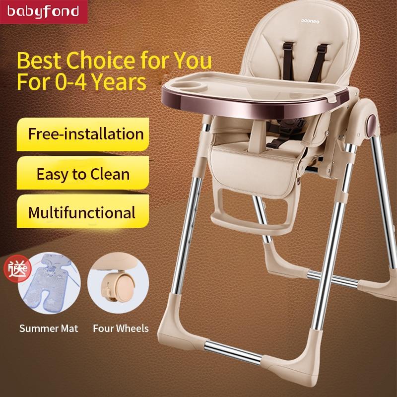 BN baby esszimmer stuhl kinder esszimmer stuhl multi-funktion faltbare tragbare baby stuhl mit roller