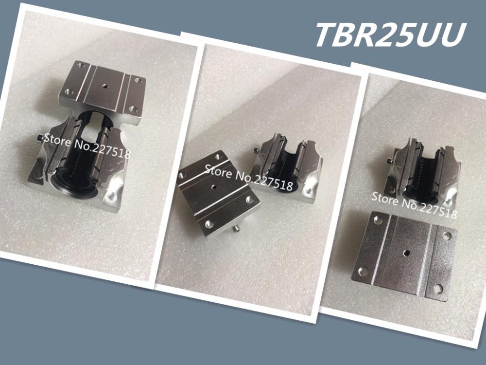 4pcs TBR25UU 25mm Linear Ball Bearing Block 25mm Linear Ball Bearing Support Block CNC Router