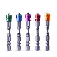 5pcs/lot 65mm cross Screw Driver Set Hex Shank Single Head Power Tools PH2 Magnetic Screwdriver Bit