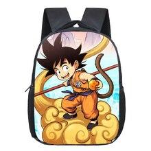12 Inch Anime Dragon Ball Children School Bags Sun Goku Boys Girls Kindergarten Printing Backpack Kids Daily Bags Gift Backpacks