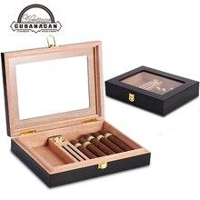 Коробка для путешествий из кедра и дерева, портативный чехол для сигар, коробка для сигар с гигрометром