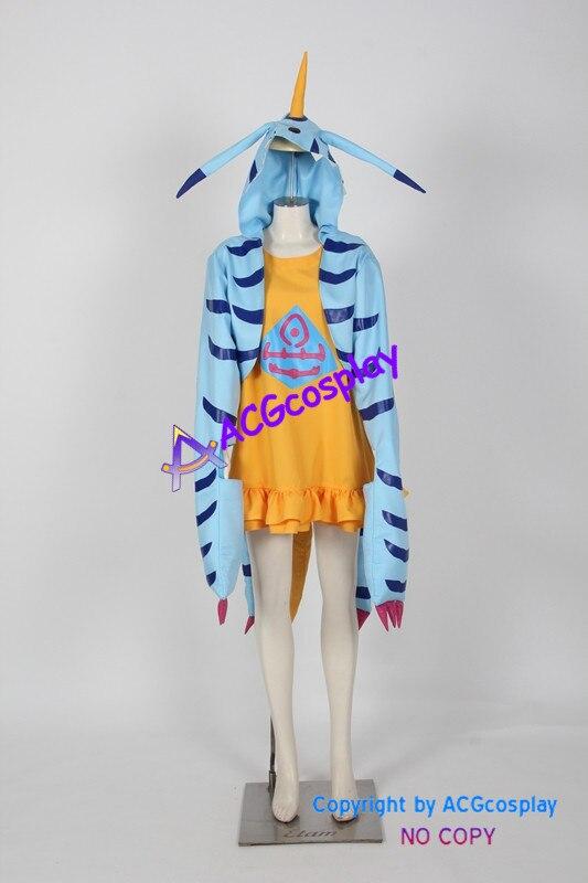Digimon aventura Gabumon cosplay traje Gabumon versión femenina ACGcosplay anime traje