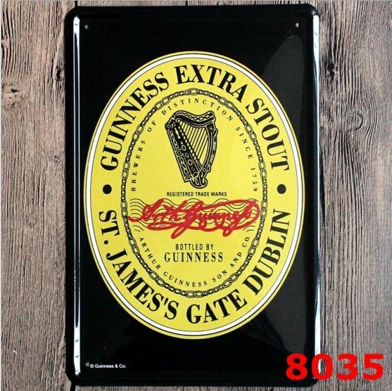 Guinness Extra Stout Força Extra Anúncios De Metal Sinal Da Lata Bar Pub Bar Wall Decor 20x30 CM