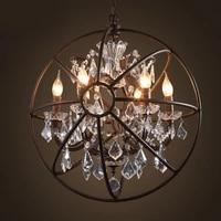 vintage metal art pendant lamp american rural loft iron pendant light crystal ring pendant lamp for dining room clothing store b