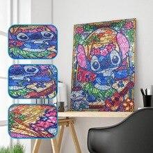 5D diamant broderie animaux bricolage diamant peinture spécial en forme de chat image colorée de strass dessin animé 30x40cm Home Decro