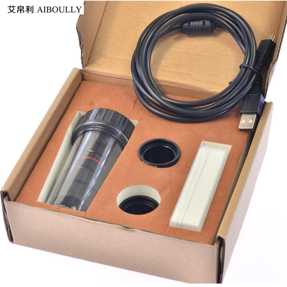 AIBOULLY 5 megapíxeles ocular electrónico con regla de calibración 30mm/23,2mm Tubo microscopio cámara de grabación de fotos Escala de 0,01mm