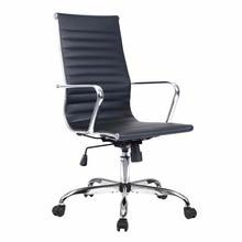 Silla de oficina de Espalda alta de cuero de PU de Goplus, silla ergonómica para ordenadores, silla giratoria para juegos, muebles de oficina HW51438