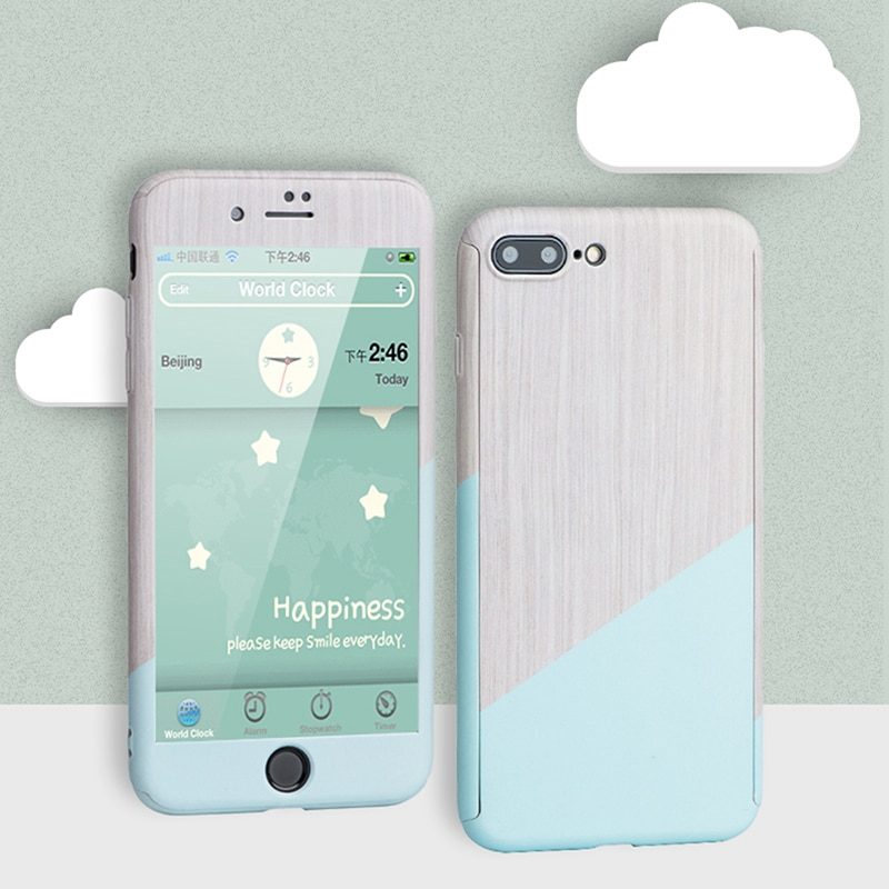 PC Case For iPhone XSmax XR XS X 8 7 6 6s Plus 5 5s SE 360 Degree Shockproof Body Protection Ultra Thin Coque Full Cover Funda