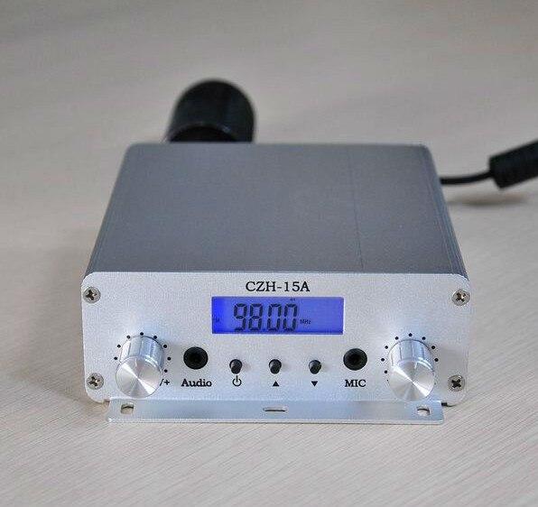 Transmissor fmuser czh CZE-15A 15w fm estéreo pll, transmissor de transmissão pll