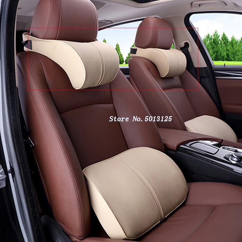 Cojín de asiento de coche, almohada de descanso del cuello, cojines de espuma de memoria para Mercedes Benz W176 W117 W212 W204 C63 CLA GLA AMG