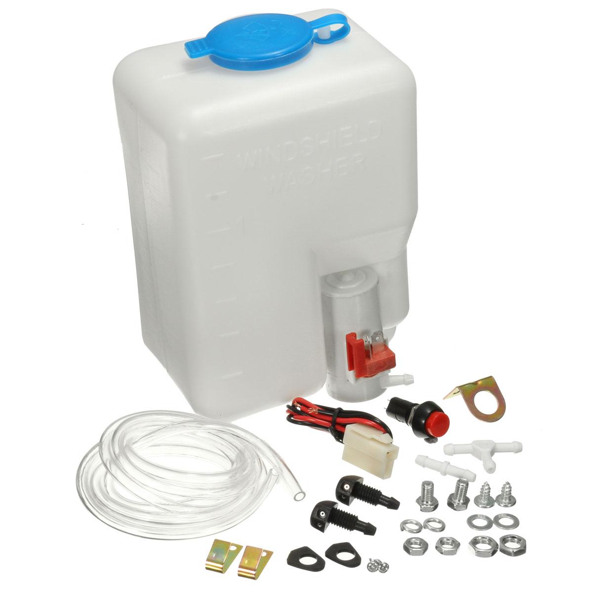 12V универсальный автомобильный набор для мытья лобового стекла с насосом струйный кнопочный переключатель 160186
