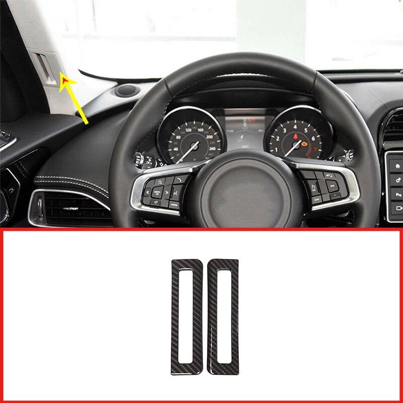 2Pcs Carbon Fiber ABS Interior A Pillar Air Conditioning Outlet Vent Cover Trim For Jaguar XE XF XFL 2016-2018 Car Accessories