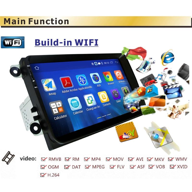 Android 5,1 Car Radio estéreo reproductor RM-VWTY90 GPS 1G DDR3 + 16G NAND memoria Flash para VW Passat golf MK5 MK6 Jetta T5 EOS POLO