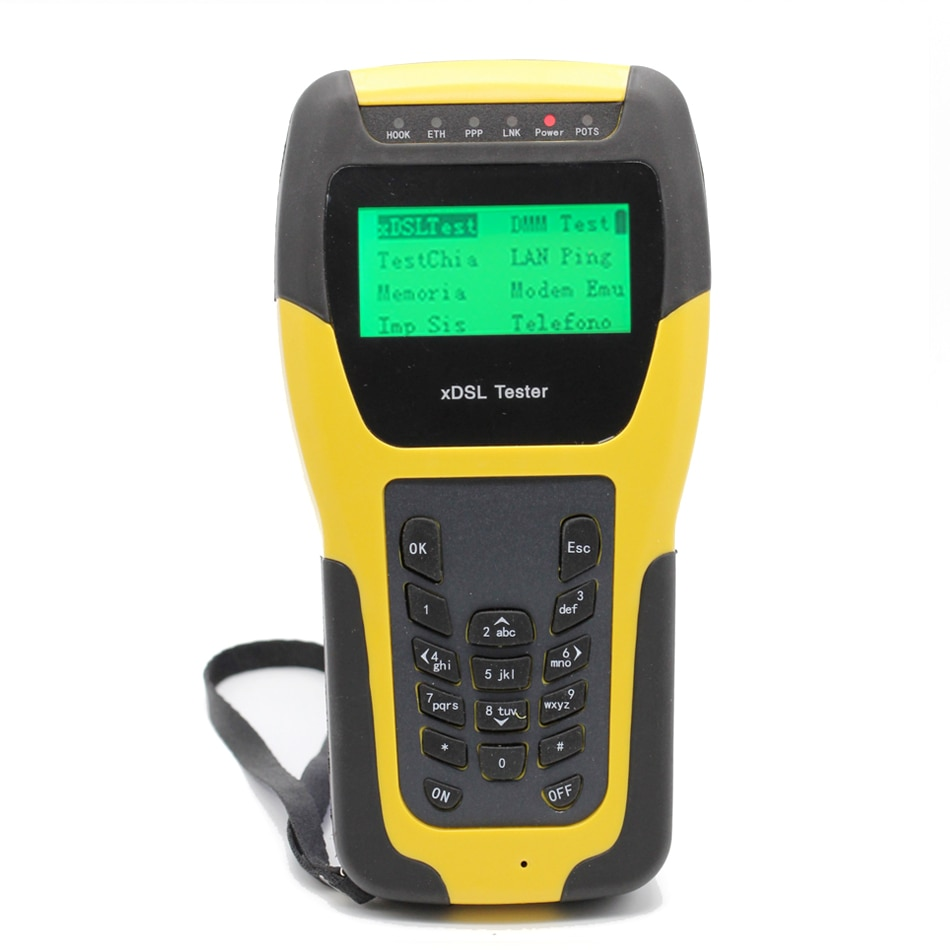 Inglês Versão Profissional ADSL2 + WAN LAN Cable Tester Rastreador Digital WireTester ADSL ADSL Circuito Detector