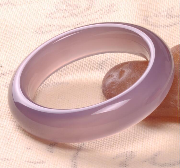Pulsera de ágata pura Natural original de color de piedra, monarch brasileño, púrpura, pulsera femenina de Jade, ancho, engrosamiento, boutique Ba