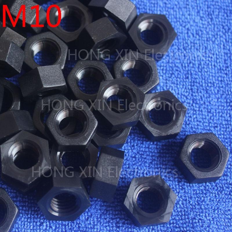 M10 1 pcs black nylon hex nut 10mm plastic nuts Meet RoSH standards Hexagonal PC Electronic accessories Tools etc high-quality