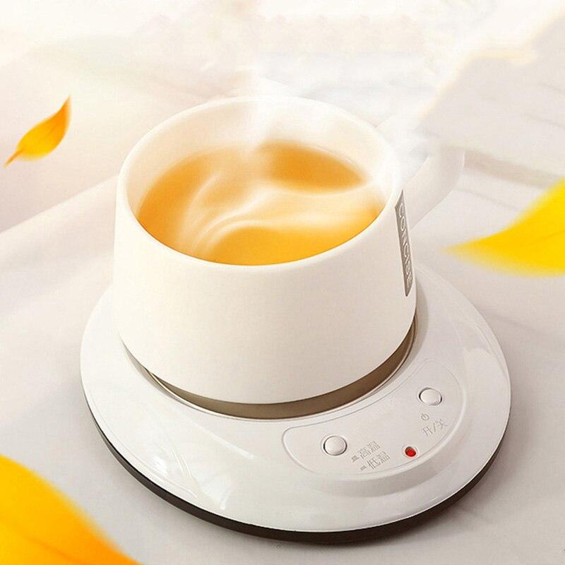220V Moderne Heizung Elektrische Keramik Herd Thermostat Schatz Kunststoff Edelstahl Wärmer Tasse Topf Basis Halter Zubehör