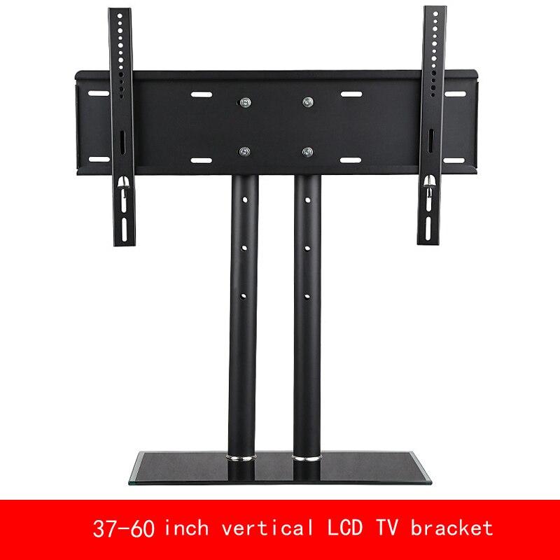 "VESA estándar 37 ""-60"" pulgadas movimiento arriba o abajo PC monitor LCD TV doble columna soporte vertical endurecido stent base de vidrio"