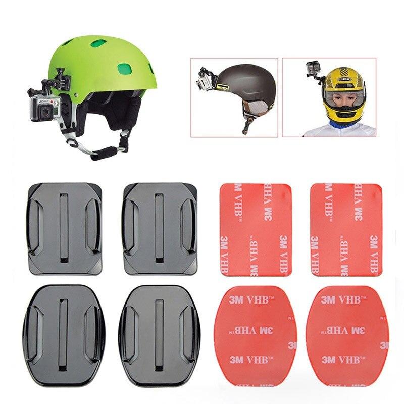4 PCS Plano Curvo Monte 7 3 Adesivo 3M para GoPro Hero/6/5/4/3 /3 +/2/1 Xiaomi Yi SJ4000 SJ5000 Action Camera
