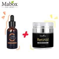 Mabox Vitamin C Whitening Serum + Retinol 2.5% Moisturizer Face Cream