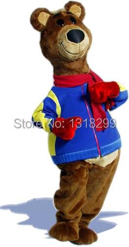 التميمة Brisky الدب زي التميمة فستان بتصميم حالم مخصص بدلة فاخرة تأثيري موضوع mascotte كرنفال حلي